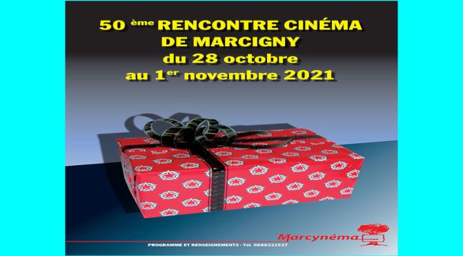 50e Rencontre cinéma de Marcigny (71) du 28/10 au 2021